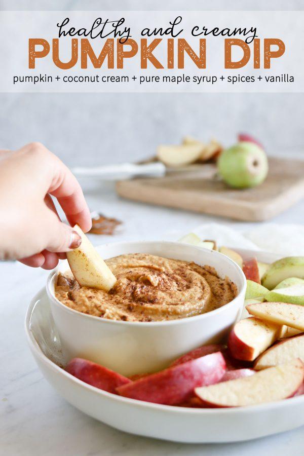 Ingredients for healthy pumpkin dip