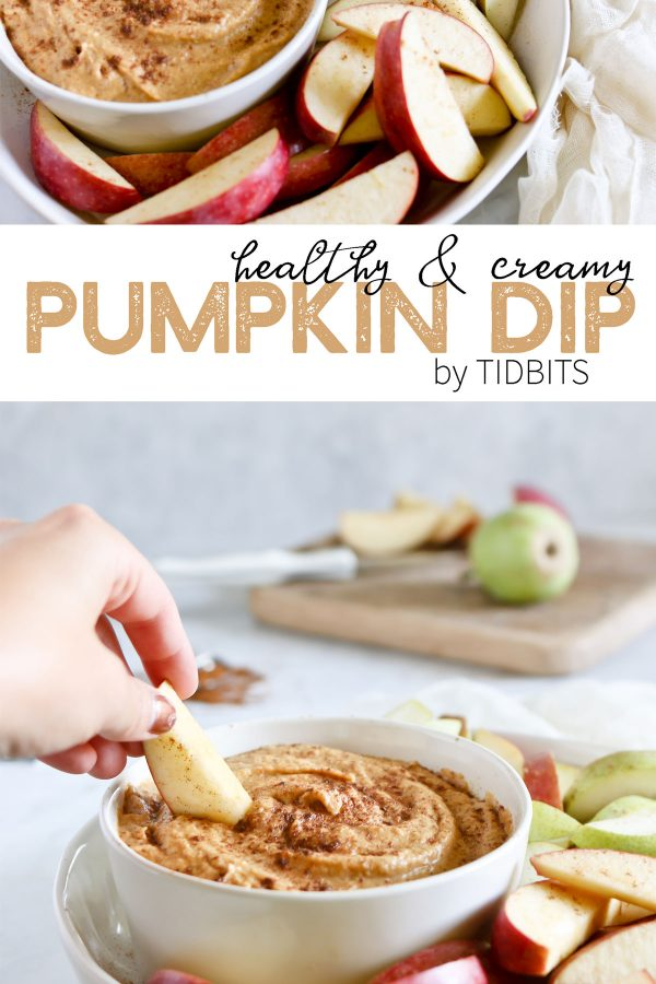 healthy and creamy pumpkin dip by tidibts