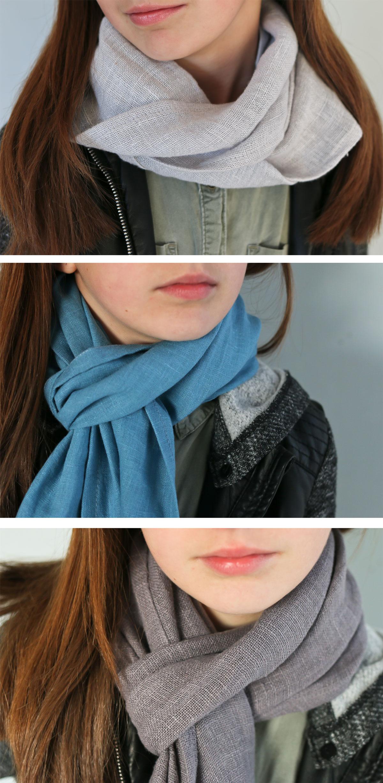 pure linen scarves