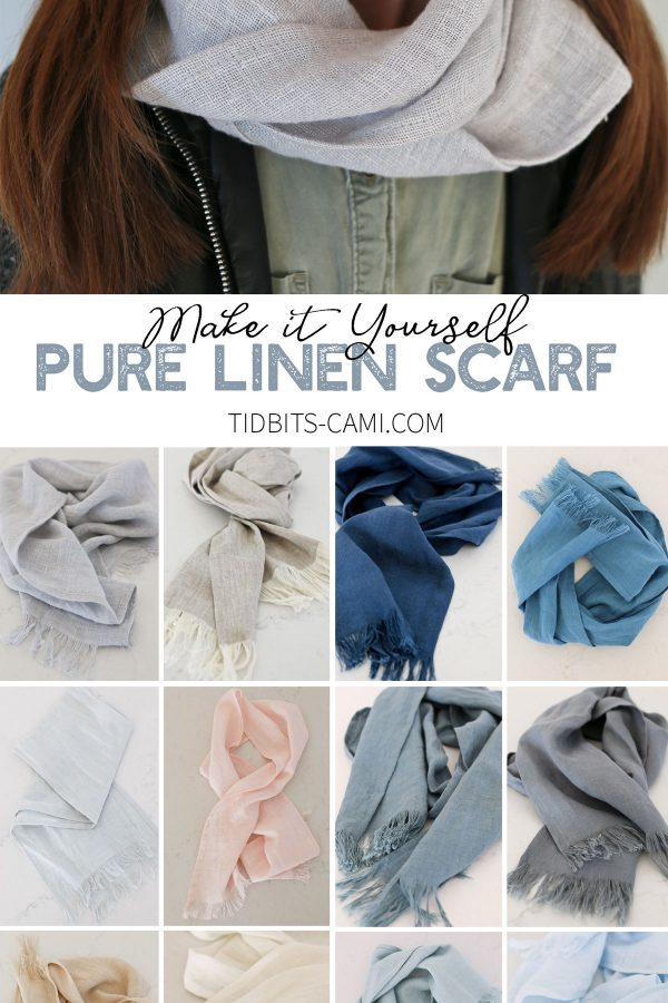 Make it yourself pure linen scarf