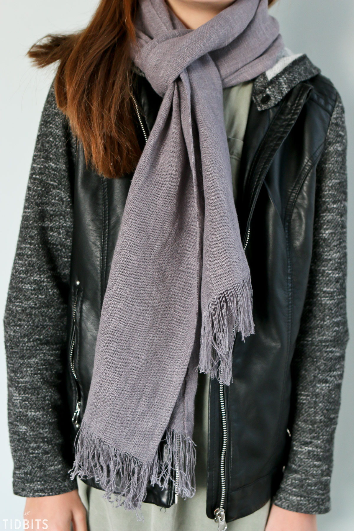 purple pure line scarf