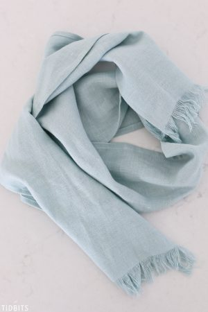 aqua pure linen scarf