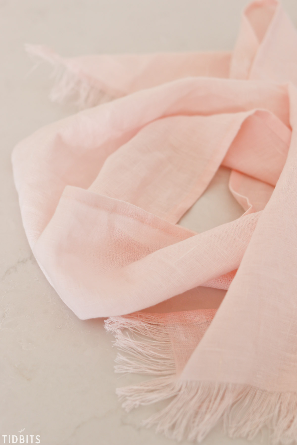 pink pure linen scarf