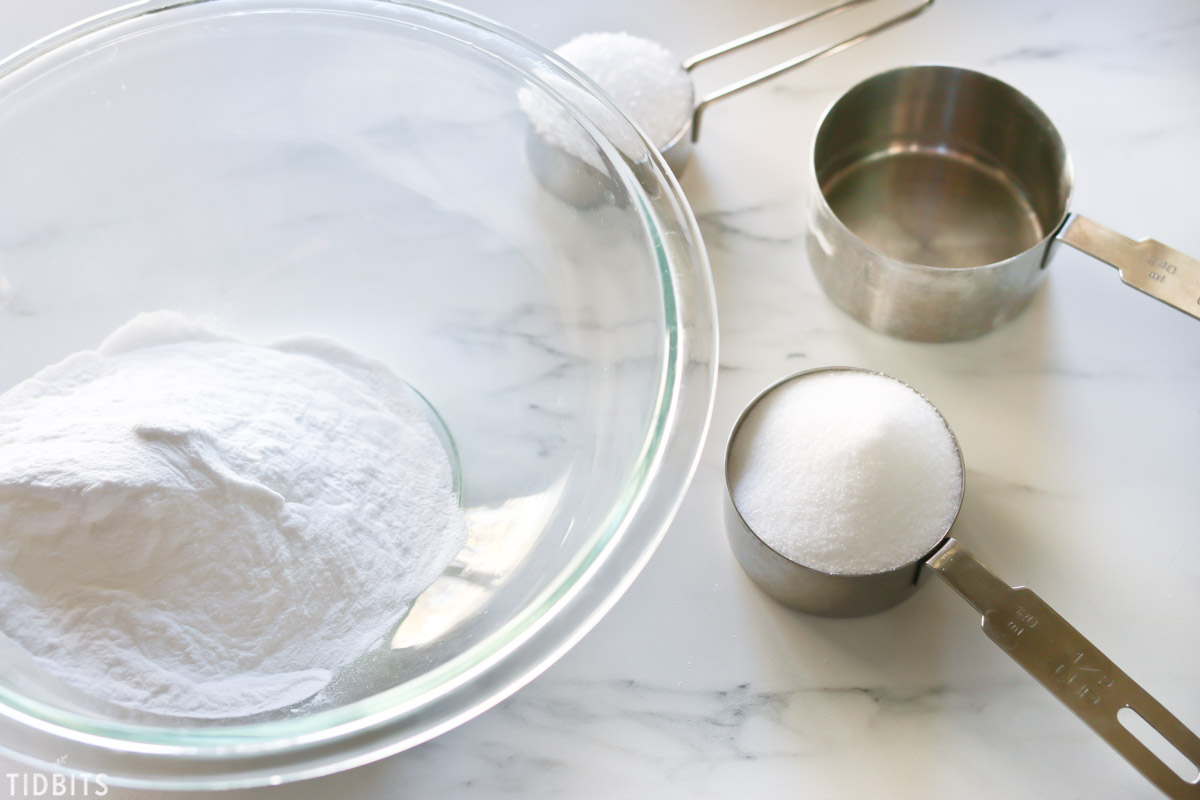 instructions for making bath bombs.
