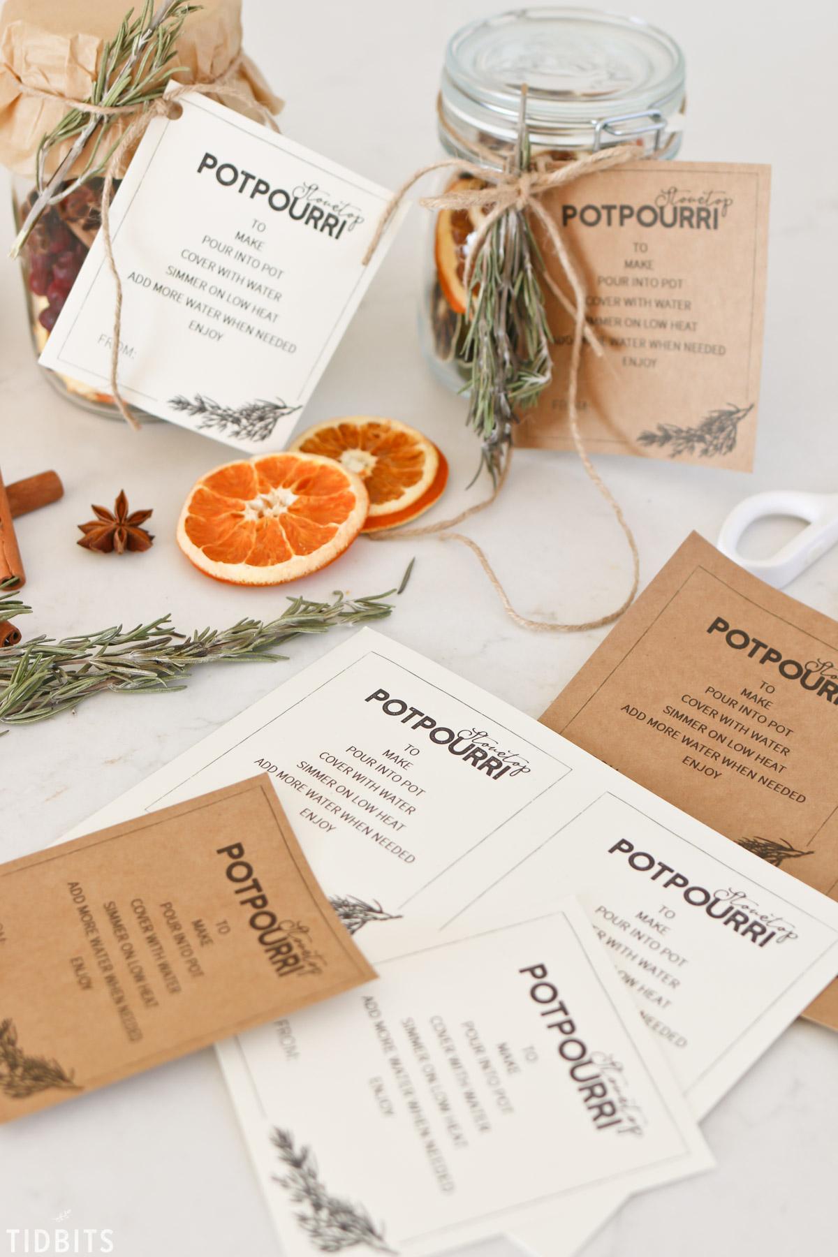 stovetop potpourri free printable.