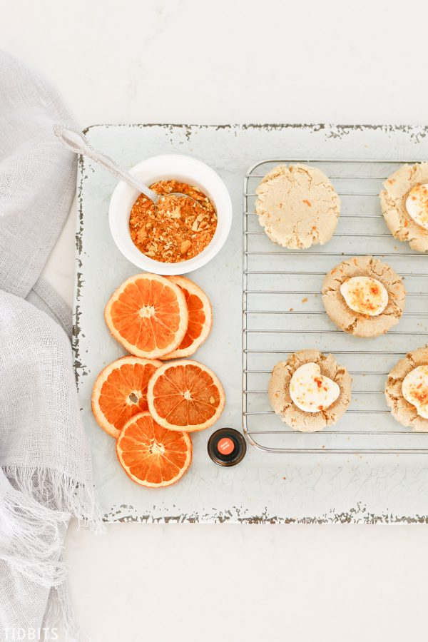 All natural gluten free orange almond cookies