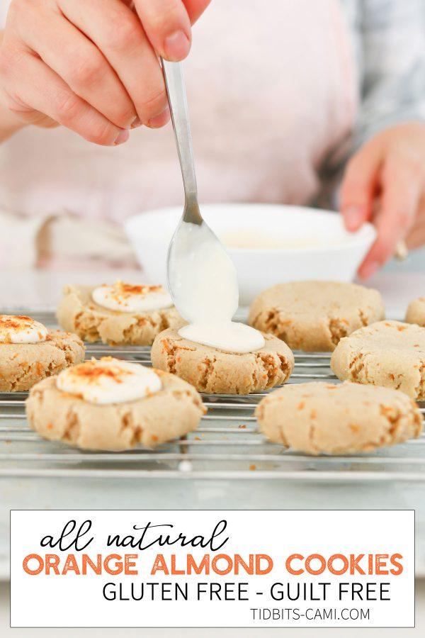 All natural gluten free orange almond cookies