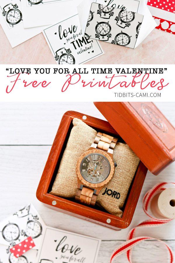 Free Valentines Printable watch gift