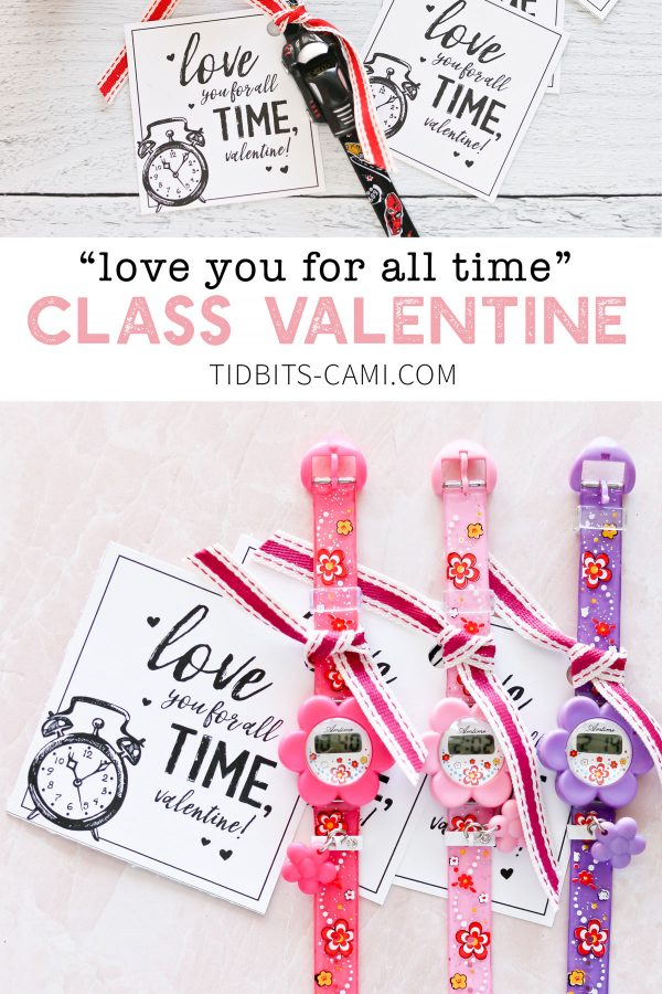love you for all time class valentine