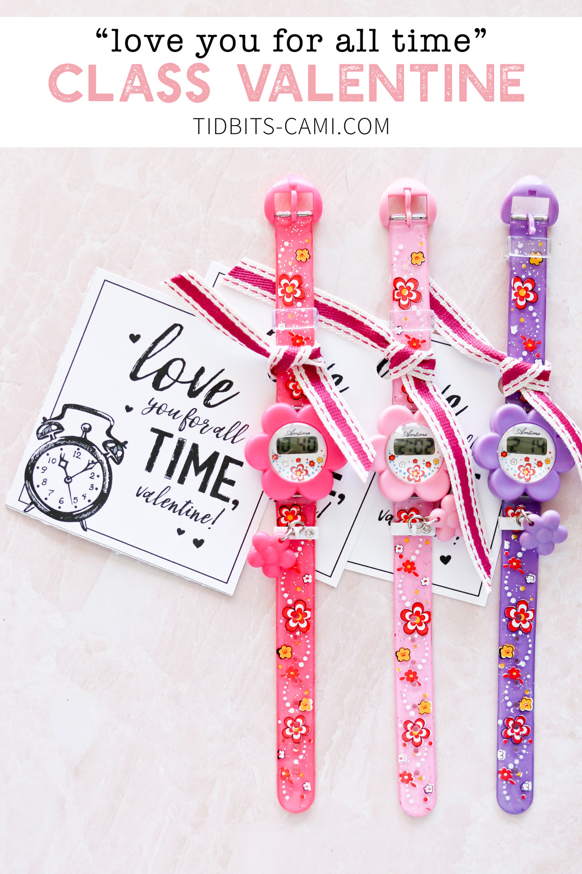 Girls watch love you for all time valentine