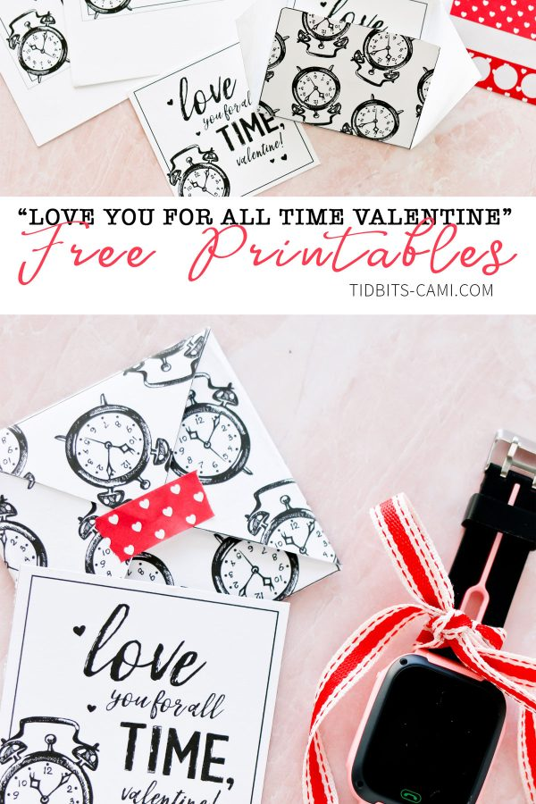 love you for all time class valentines