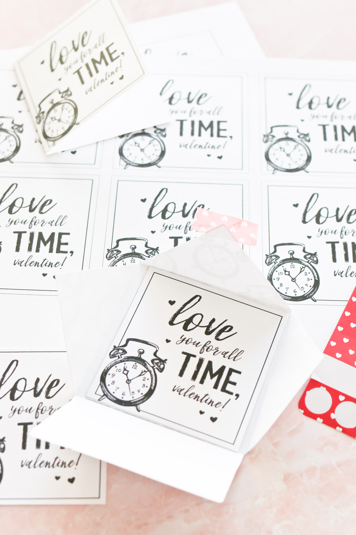 love you for all time valentines cards
