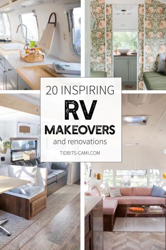 Inspiring RV Makeovers and renovations by TIDBITS