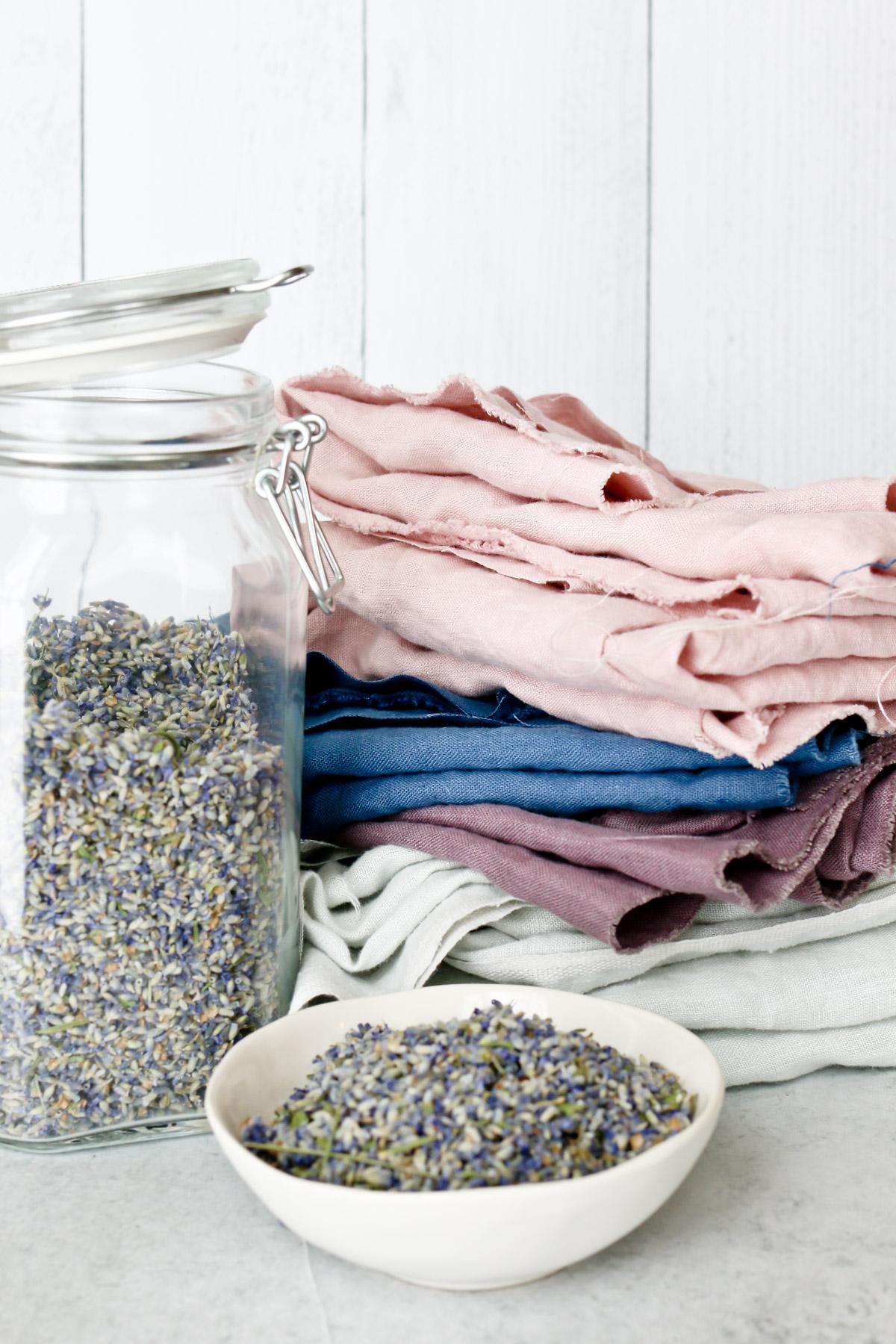 DIY Linen Lavender Eye Pillows