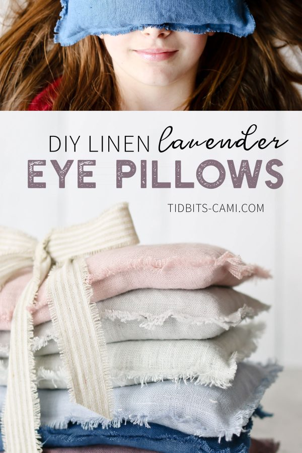 DIY Line Lavender Eye Pillows
