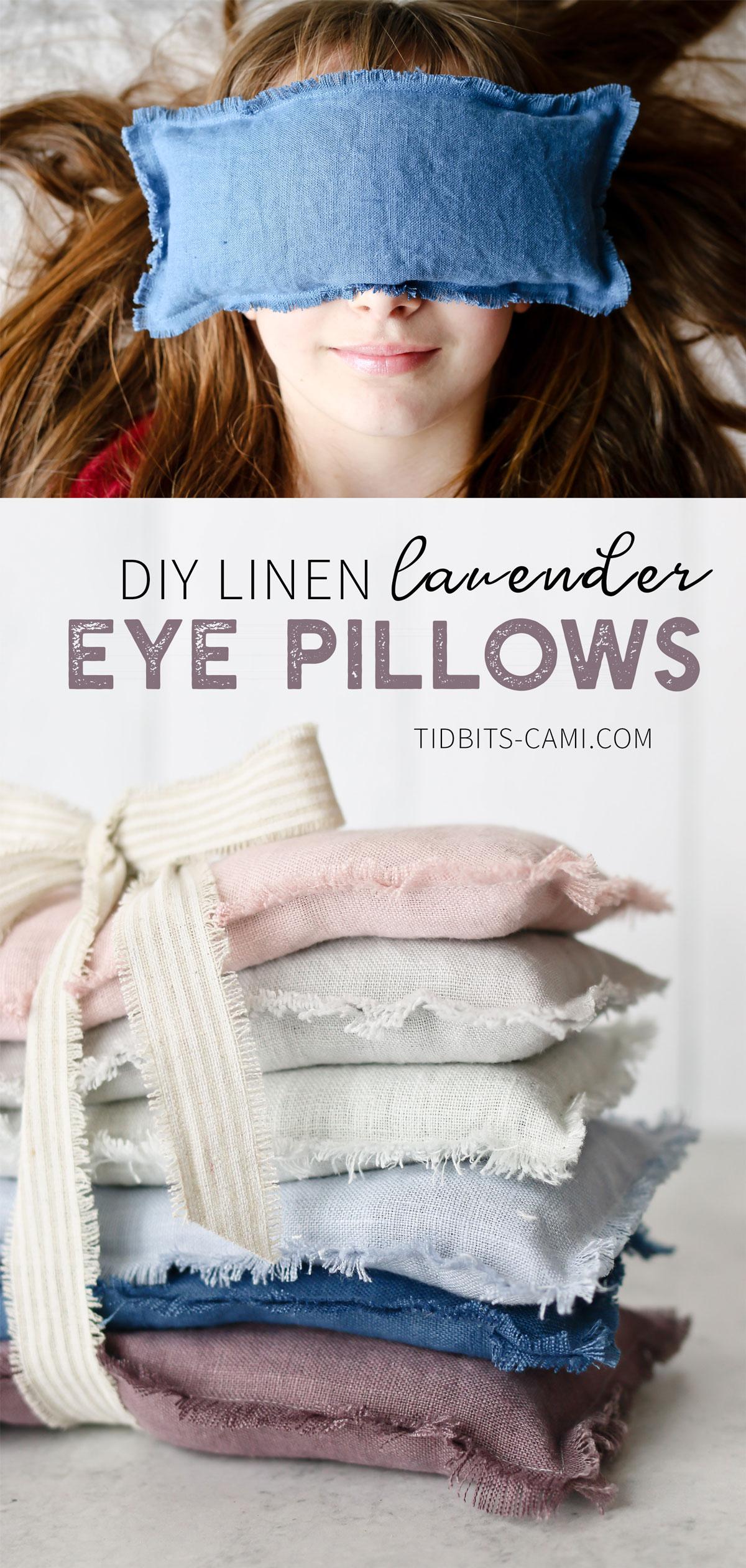 DIY Line Lavender Eye Pillows