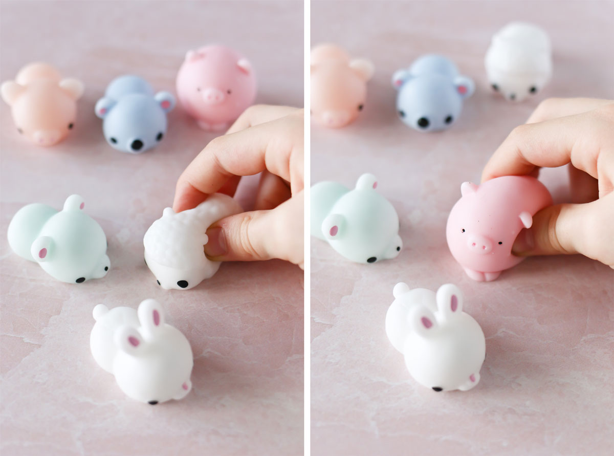 Squishy toys for class valentines
