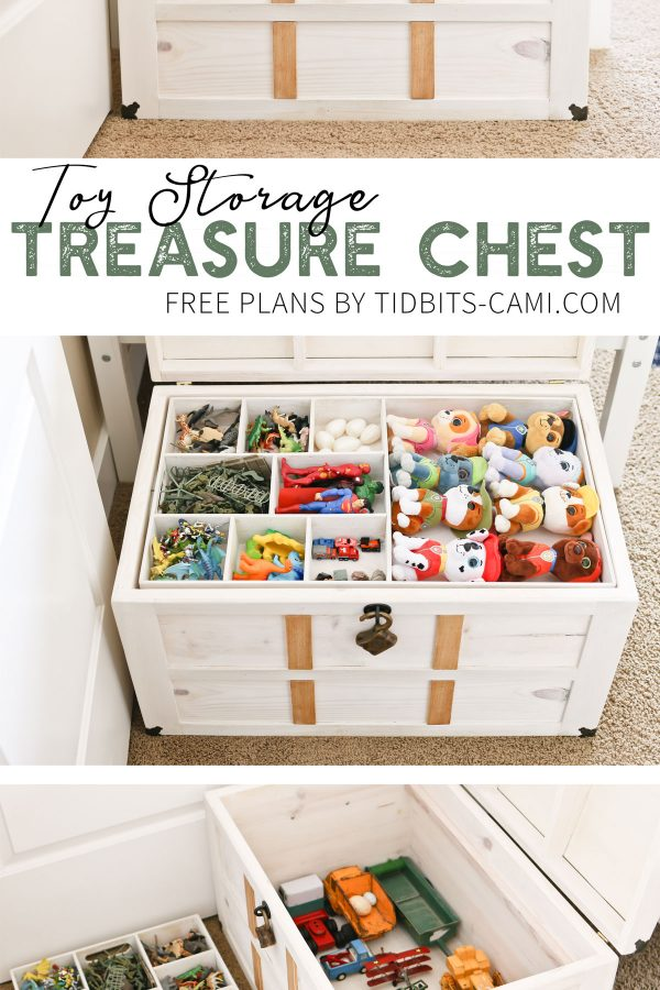 Toy storage treasure chest building plans.