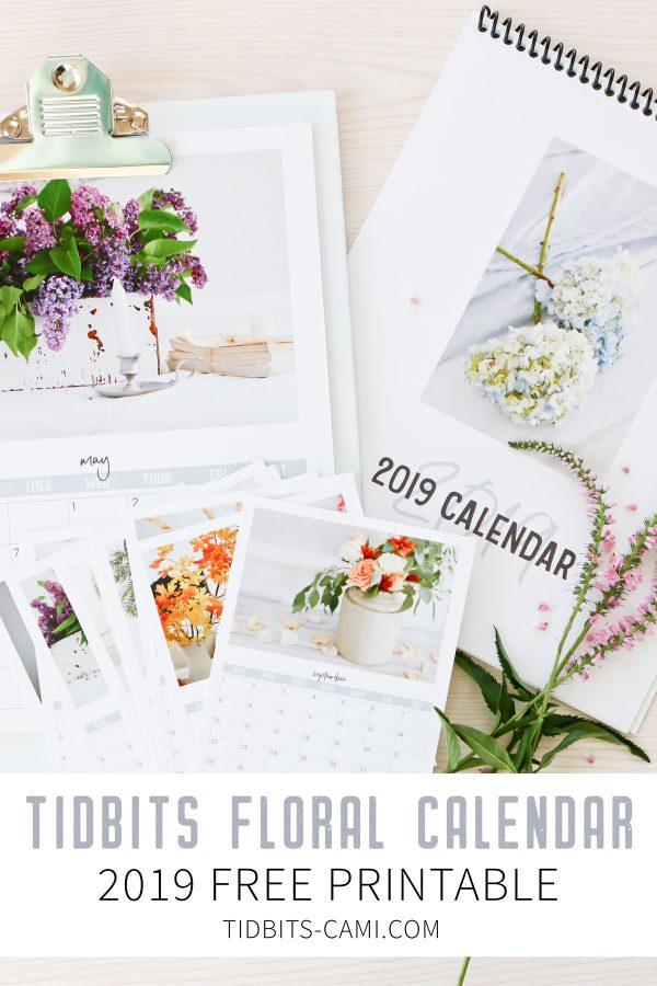 Free TIDBITS floral calendar