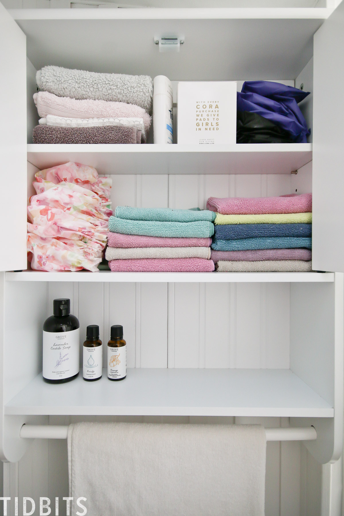 RV bathroom storage and organization
