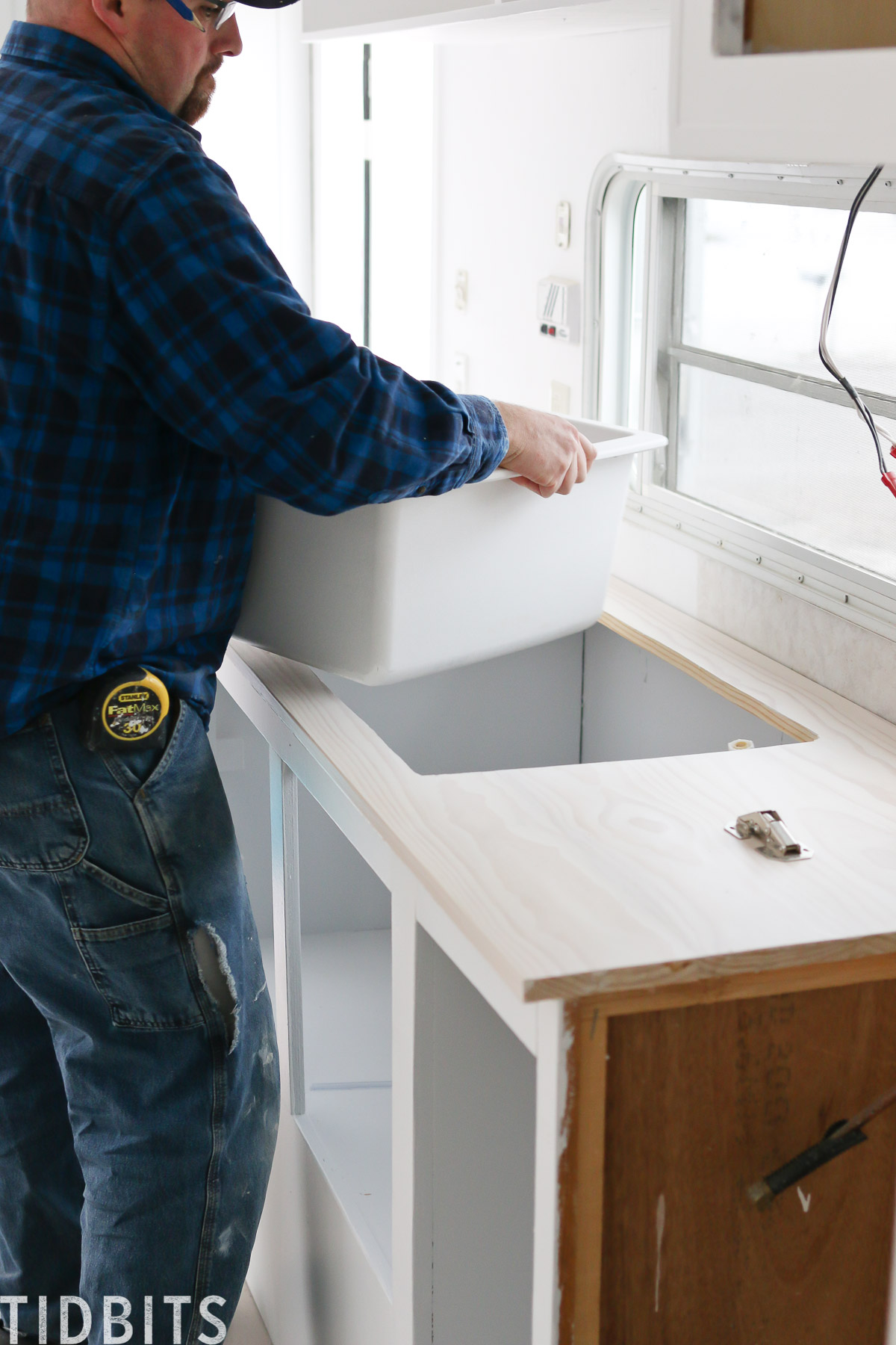 Installing sink in RV