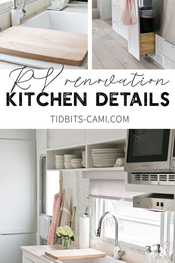 TIDBITS ON WHEELS RV renovation, kitchen details