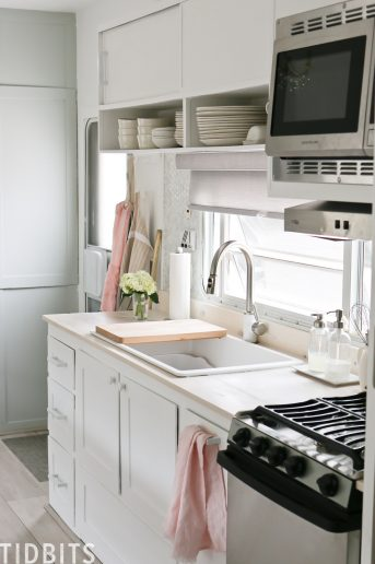 TIDBITS ON WHEELS RV renovation, Kitchen details.