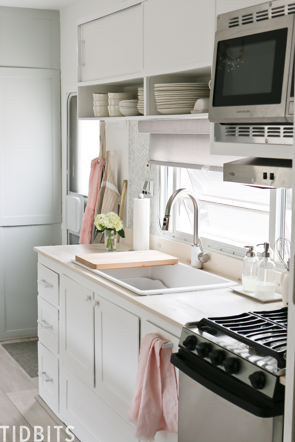 Rv Renovation Kitchen Details Tidbits