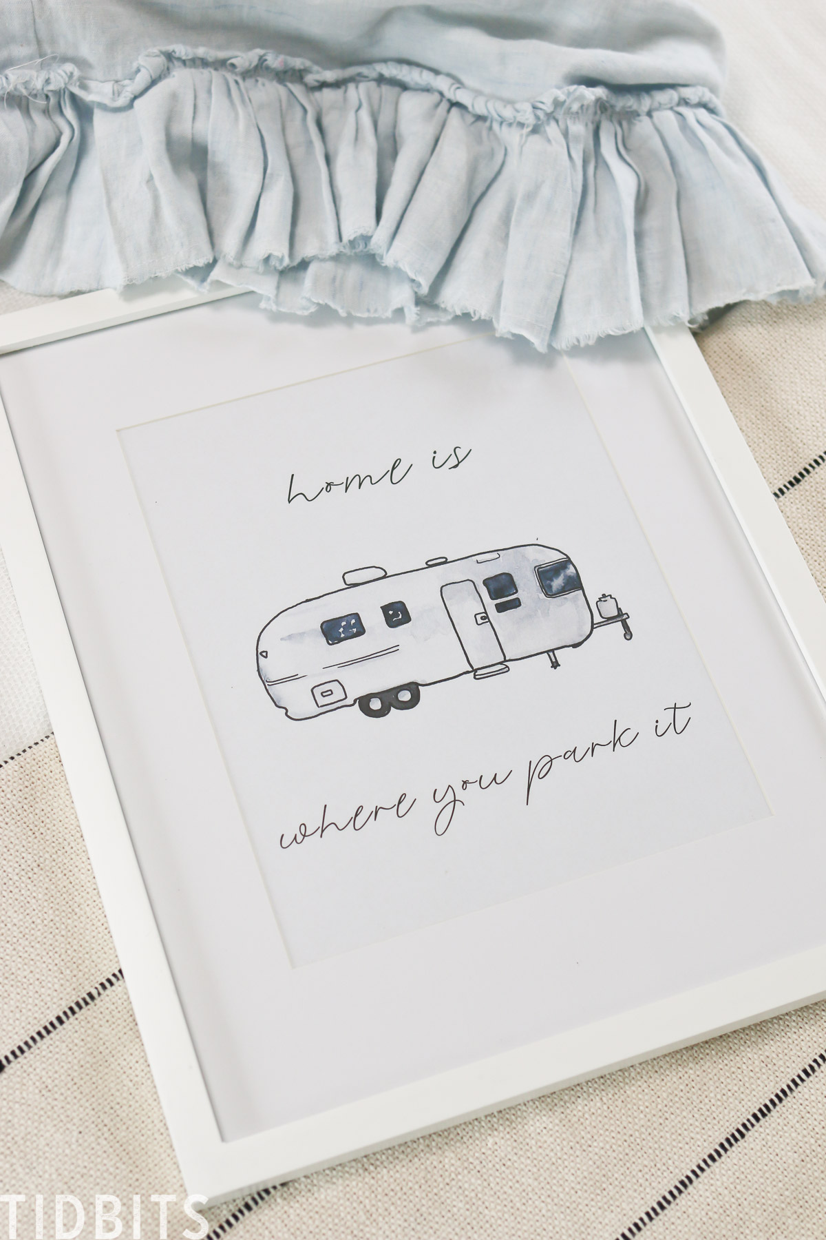 RV Art | Home is where you park it FREE Printable pack