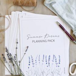 Summer Dreams Planning Pack Printable