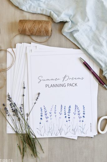 Summer Dreams Planning Pack - Free Printable