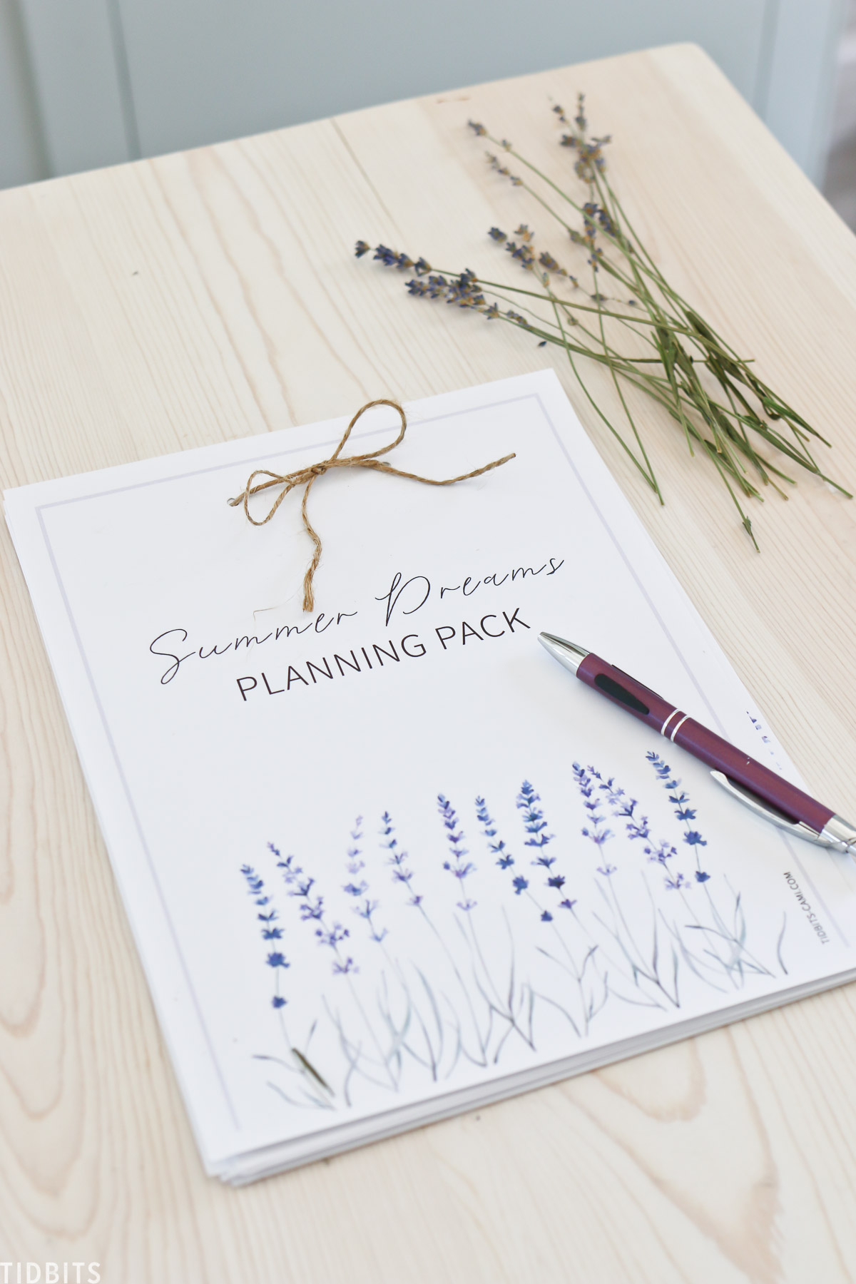 Summer Dreams Planning Pack - Free Printable
