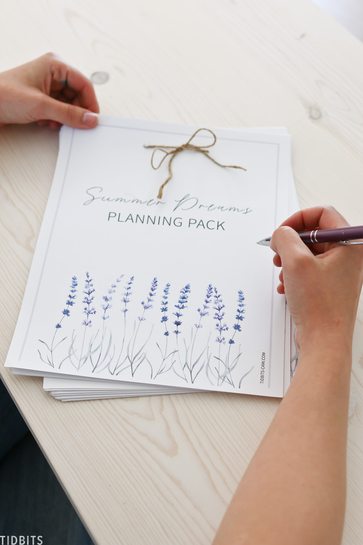 Planning out your Summer with this printable planning pack