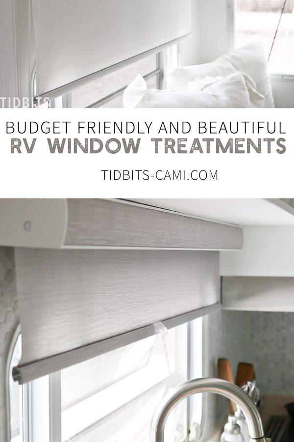 3 varieties of window treatments in our RV