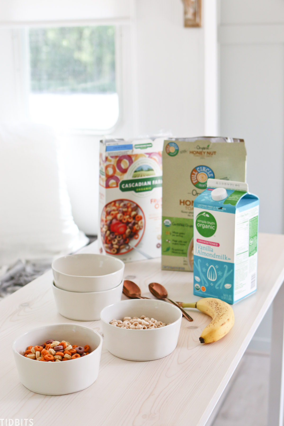organic cereal for camping breakfast