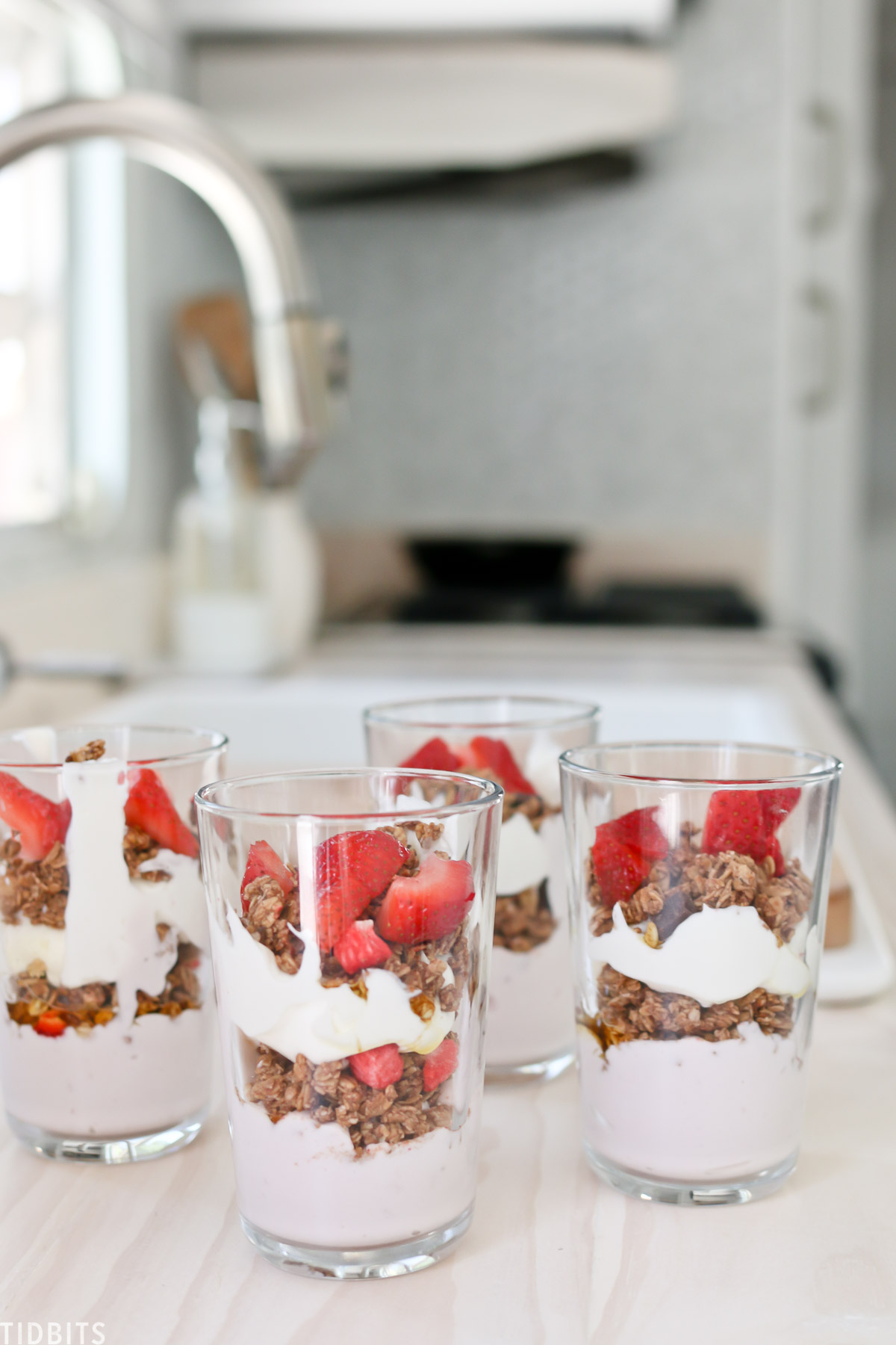 yogurt parfait for easy and healthy camping breakfast