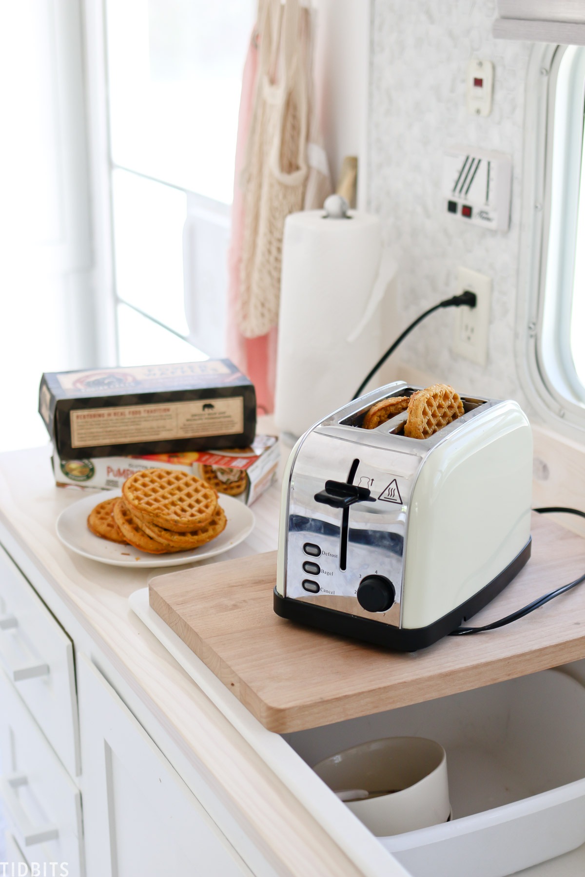 whole grain waffles for camping breakfast ideas