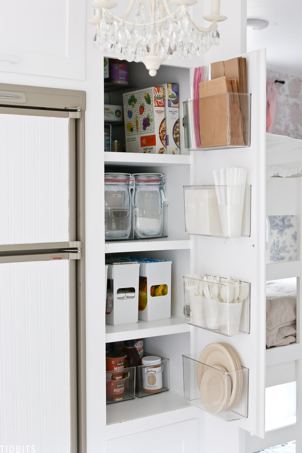 Small pantry organization ideas and ideas for RV kitchen storage