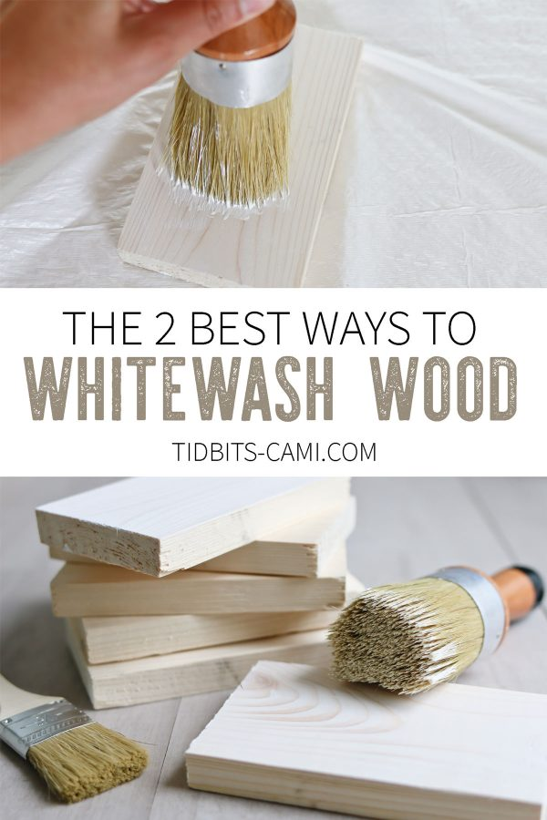 How to whitewash wood, 2 techniques to get the look