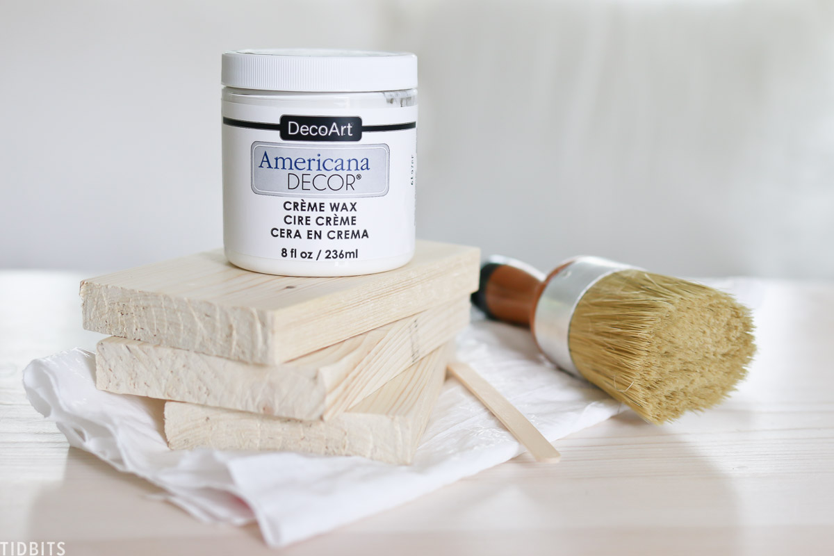 Furniture white wax used to whitewash pine wood.