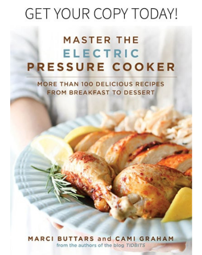 Front cover of 'Master The Electric Pressure Cooker' cookbook