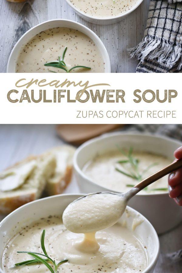 Better than Zupas Creamy Cauliflower Soup.