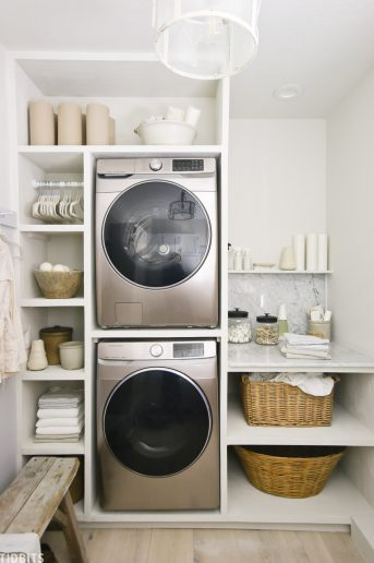 European Organic Inspired Laundry Room Design