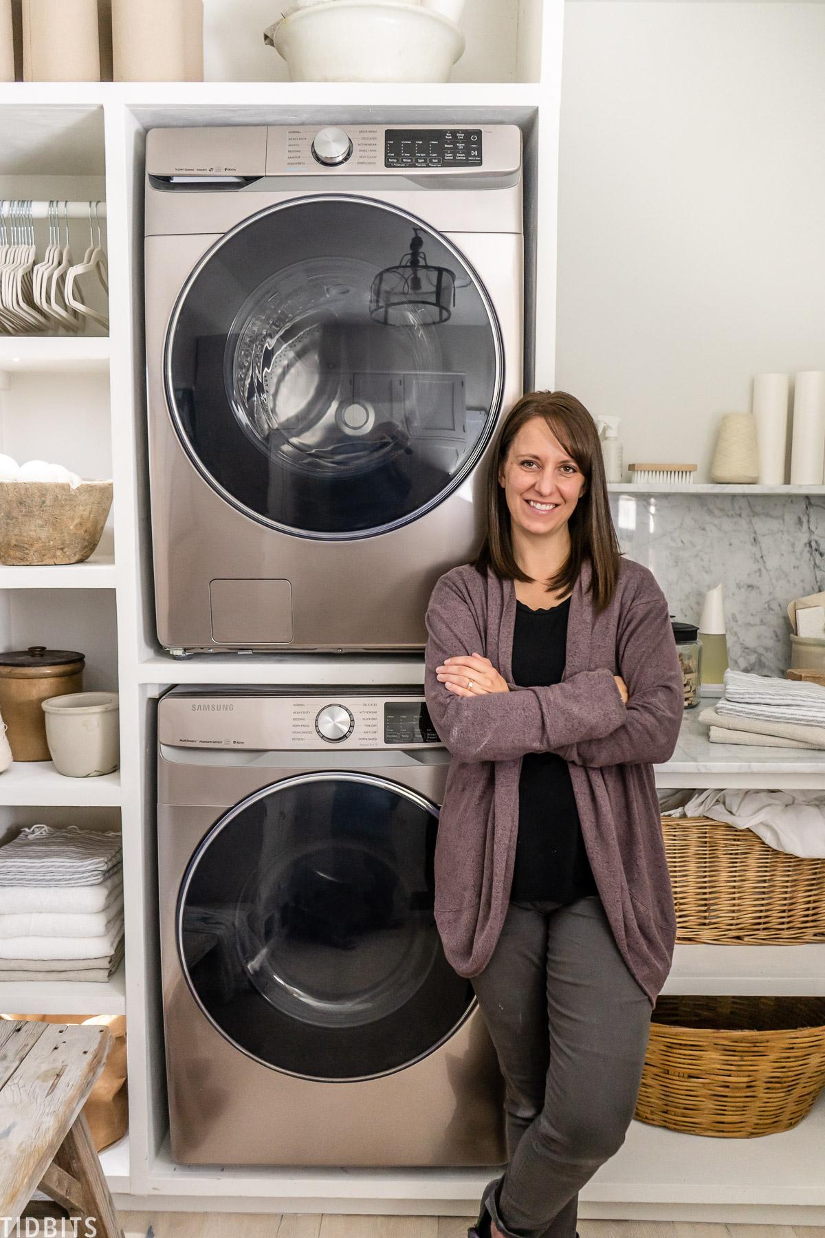 European Organic Inspired Laundry Room Design