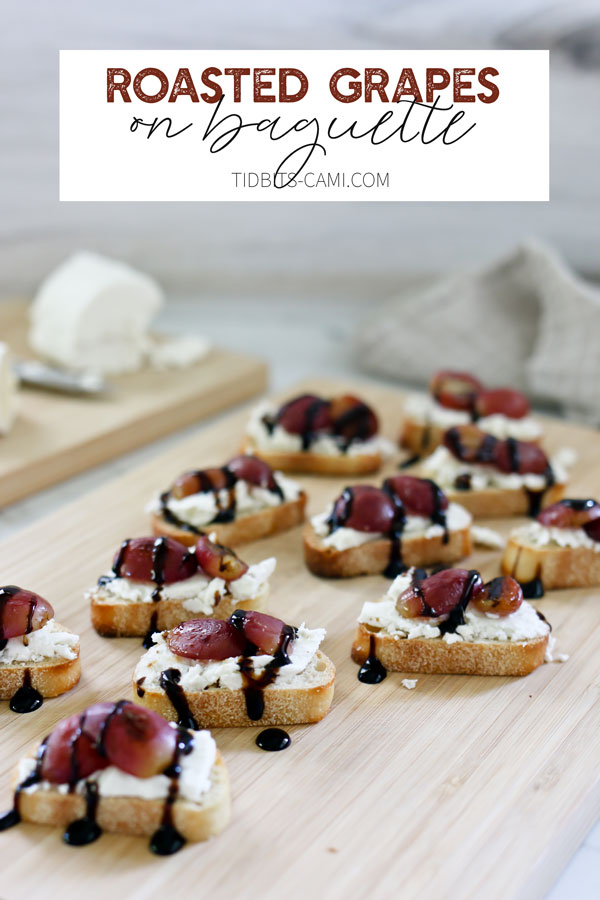 How to roast grapes for appetizer recipes.