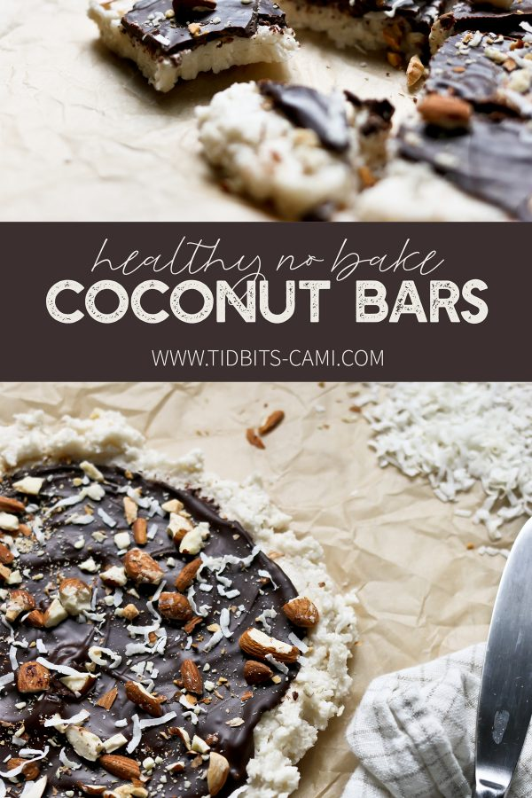 Healthy, No Bake Coconut Bars