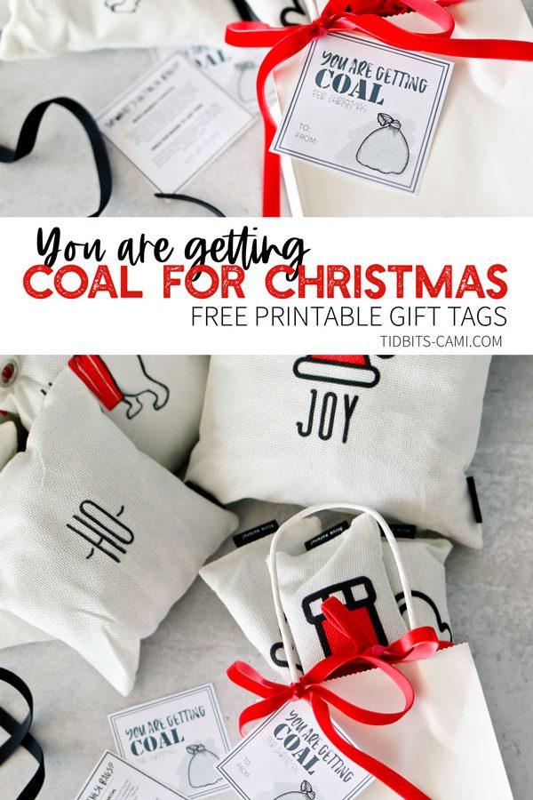 gift tag coal for christmas
