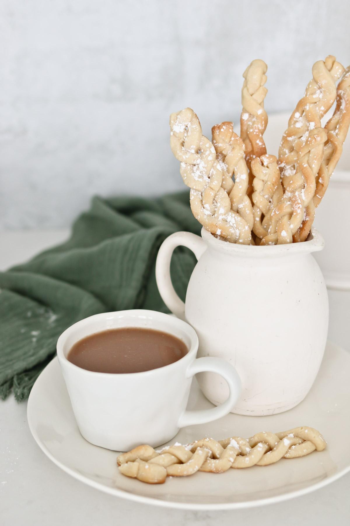 Braided Sugar Cookie Sticks
