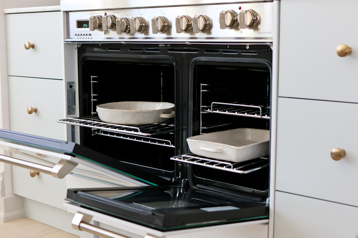cooking in double oven