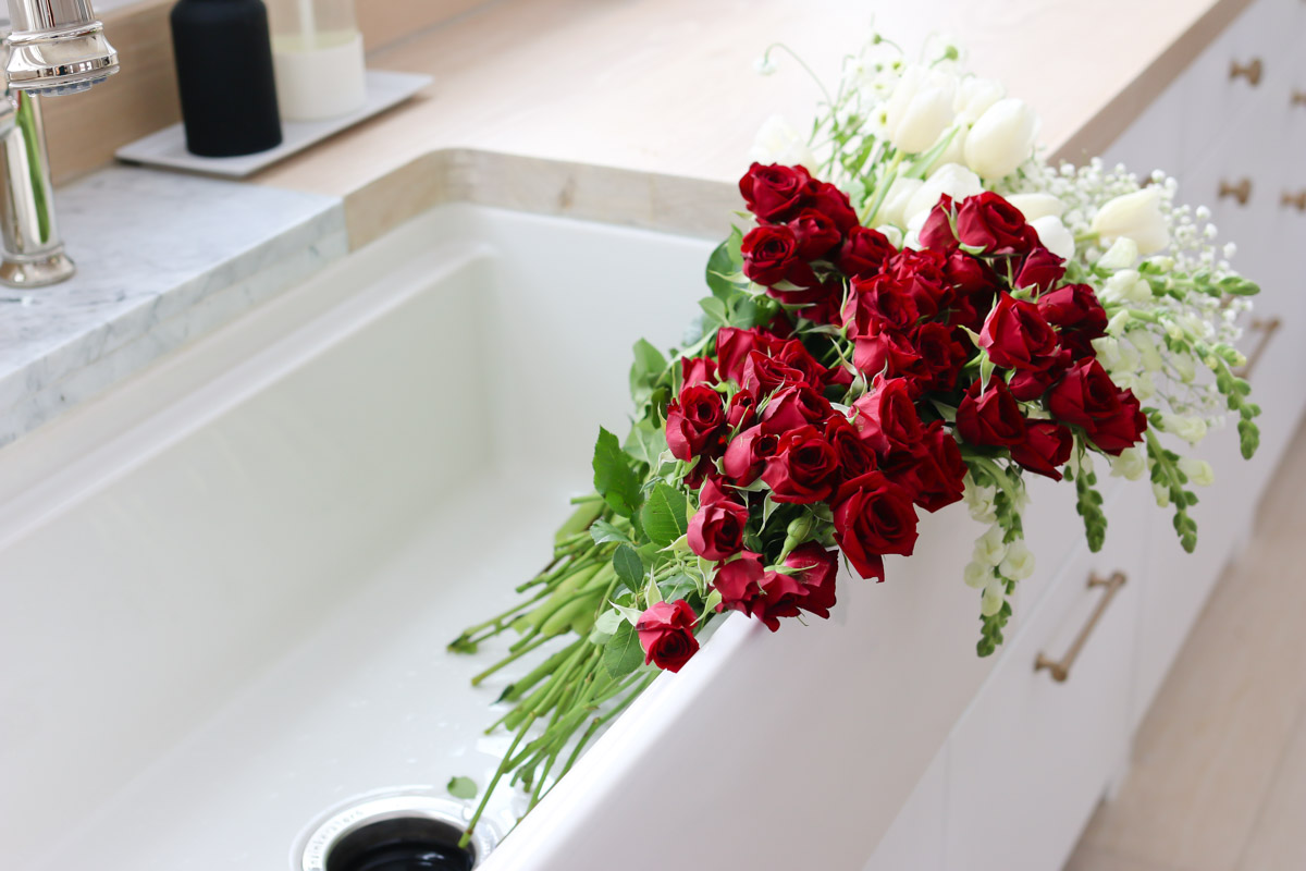 Tips for rearranging grocery store flower bouquets.
